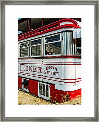 Americana Classic Dinner Booth Service Framed Print by Edward Fielding