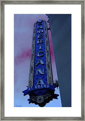 Framed Print featuring the photograph Americana Vintage Landmark Sign_3 by Renee Anderson