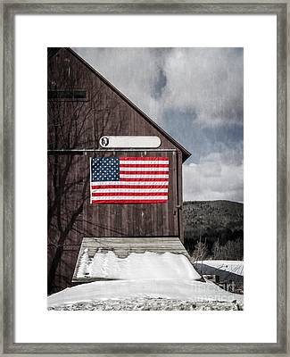 Americana Patriotic Barn Framed Print by Edward Fielding
