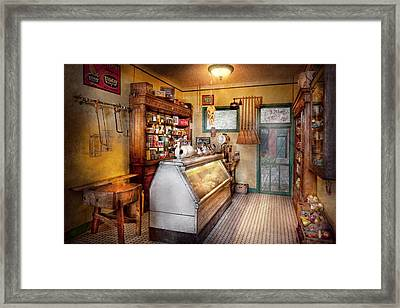 Americana - Store - At The Local Grocers Framed Print by Mike Savad