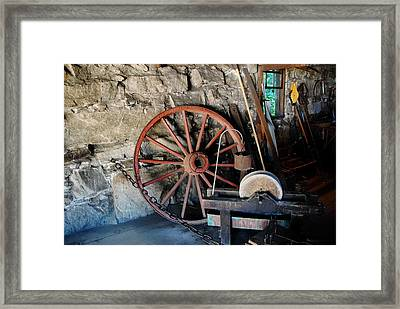 Framed Print featuring the photograph Americana - Sturbridge Mass by Jacqueline M Lewis