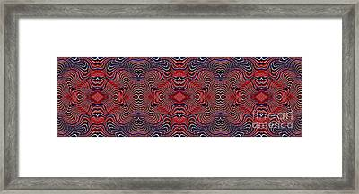 Americana Swirl Banner 2 Framed Print by Sarah Loft