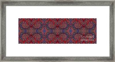 Americana Swirl Banner 3 Framed Print by Sarah Loft