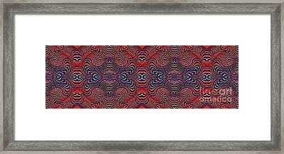 Americana Swirl Banner 4 Framed Print by Sarah Loft