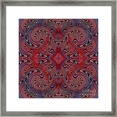 Americana Swirl Design 1 Framed Print by Sarah Loft