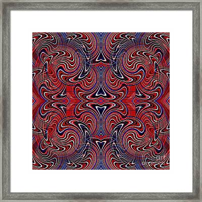 Americana Swirl Design 3 Framed Print by Sarah Loft