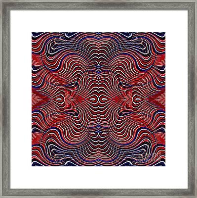 Americana Swirl Design 5 Framed Print by Sarah Loft