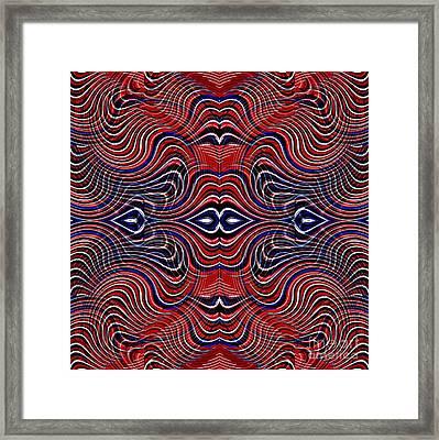 Americana Swirl Design 6 Framed Print by Sarah Loft