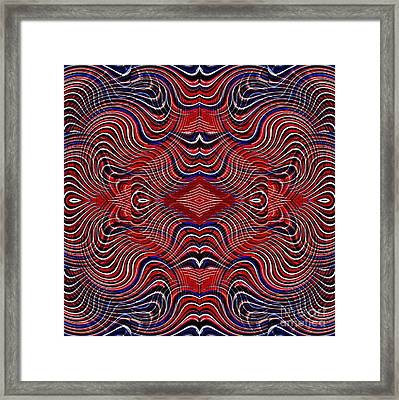 Americana Swirl Design 7 Framed Print by Sarah Loft