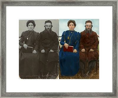 Americana - The Yearly Family Portrait - Side By Side Framed Print by Mike Savad