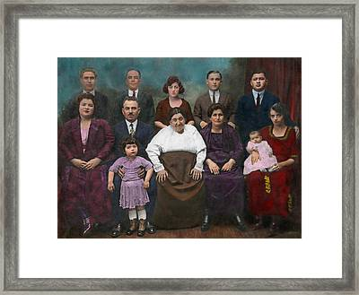 Americana - This Is My Family 1925 Framed Print by Mike Savad