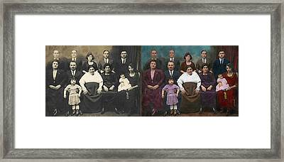 Americana - This Is My Family 1925 - Side By Side Framed Print by Mike Savad
