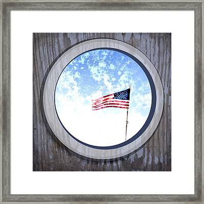 Americana Usa Flag Framed Print by Ann Powell