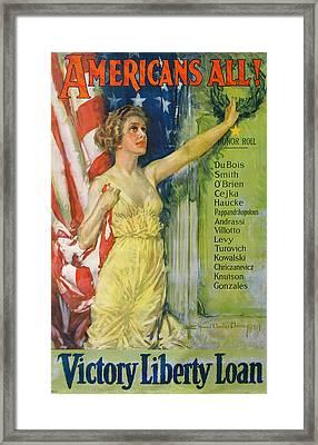 Americans All Framed Print by Howard Chrisky