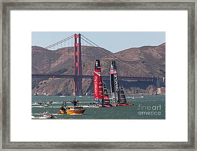Americas Cup At The Gate Framed Print