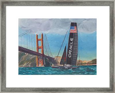 Americas Cup By The Golden Gate Framed Print