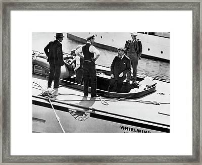 America's Cup Contender Framed Print by Underwood Archives