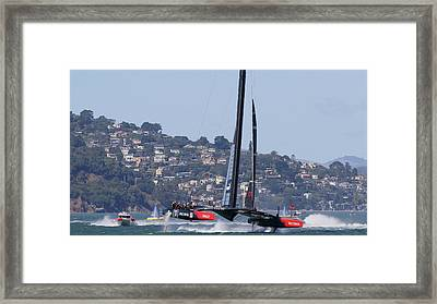 America's Cup Oracle 2013 Framed Print by Steven Lapkin