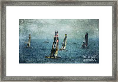 Americas Cup Racing - Oracle Framed Print by Scott Cameron
