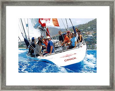 Americas Cup Racing At St. Martin Framed Print
