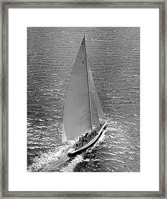 America's Cup Rainbow Yacht Framed Print