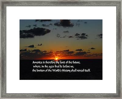 America's Destiny Framed Print by Gary Wonning