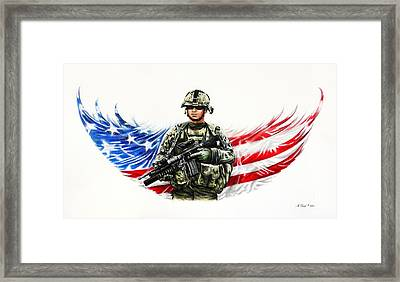 Americas Guardian Angel Framed Print