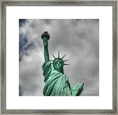 America's Lady Liberty Framed Print
