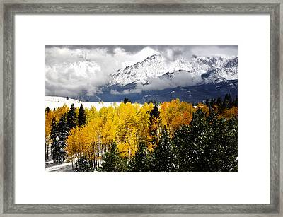 America's Mountain Fall Framed Print by The Forests Edge Photography - Diane Sandoval