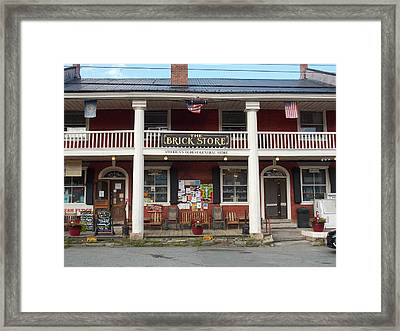 America's Oldest General Store Framed Print by Catherine Gagne