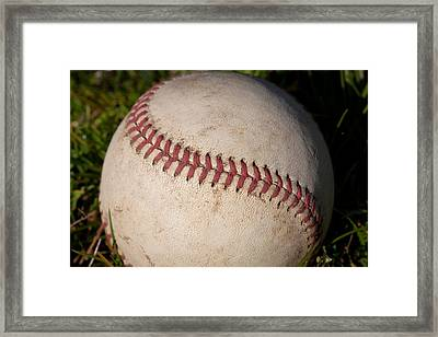 America's Pastime - Baseball Framed Print by David Patterson