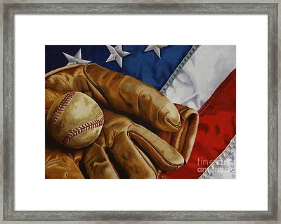 America's Pastime Framed Print by Cory Still