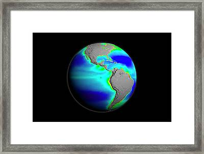 Americas Phytoplankton Levels Framed Print