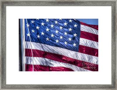 America's Stars And Strips Framed Print