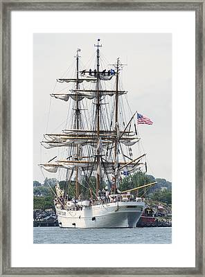 Americas Tall Ship The Eagle Framed Print by Marianne Campolongo