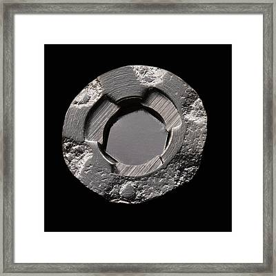 Americium In Smoke Detector Framed Print by Science Photo Library