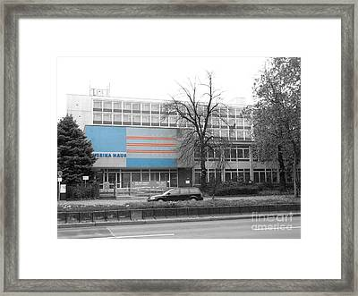 Framed Print featuring the photograph Amerika Haus by Art Photography
