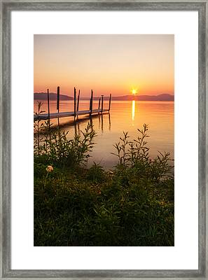 Ames Farm Landing Framed Print
