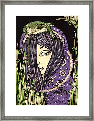 Amethyst Framed Print by Anita Inverarity