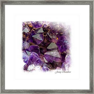 Amethyst Crystals. Elegant Knickknacks From Jenny Rainbow Framed Print