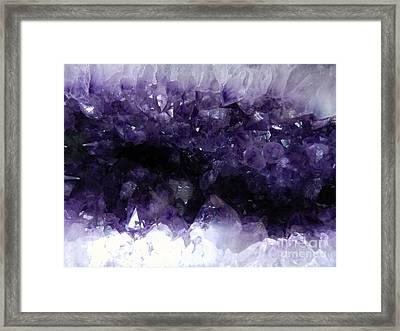 Amethyst Geode Framed Print by Amar Sheow