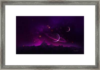 Amethyst Night Framed Print by Cassiopeia Art
