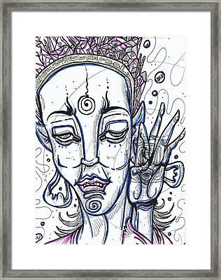 Amethyst Sage Framed Print by Anthony Tonich