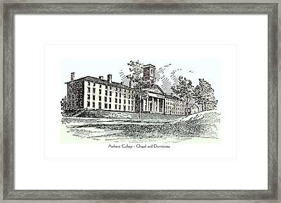 Amherst College - Chapel And Dormitories Framed Print