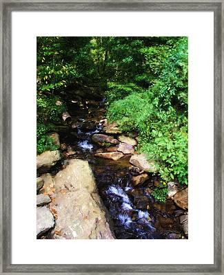Amicalola Falls Framed Print by Jennifer Hotai