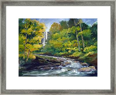 Amicalola Falls Painting Framed Print by Sally Simon