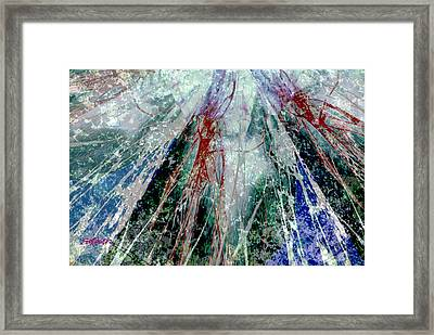Amid The Falling Snow Framed Print by Seth Weaver