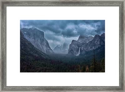 Amidst A Thunderstorm Framed Print