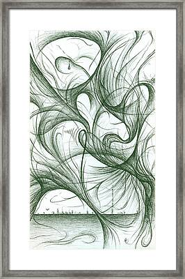 Amidst The Chaos Framed Print