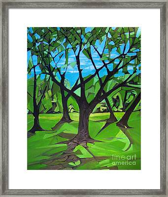 Amigos - Trees Botanicals Framed Print by Grace Liberator